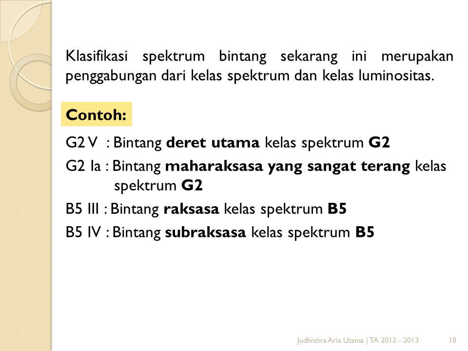 G2 V : Bintang deret utama kelas spektrum G2