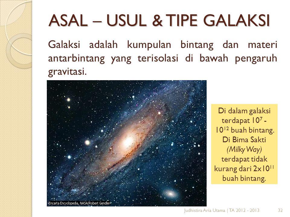 ASAL – USUL & TIPE GALAKSI
