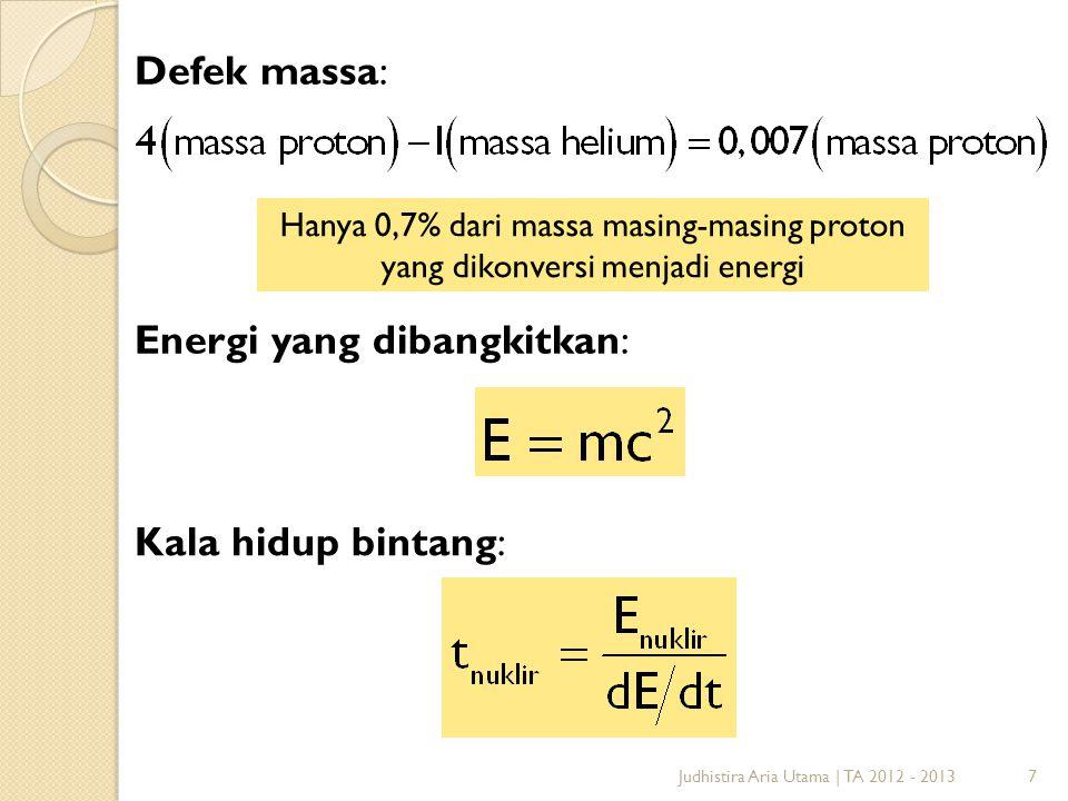 Energi yang dibangkitkan: