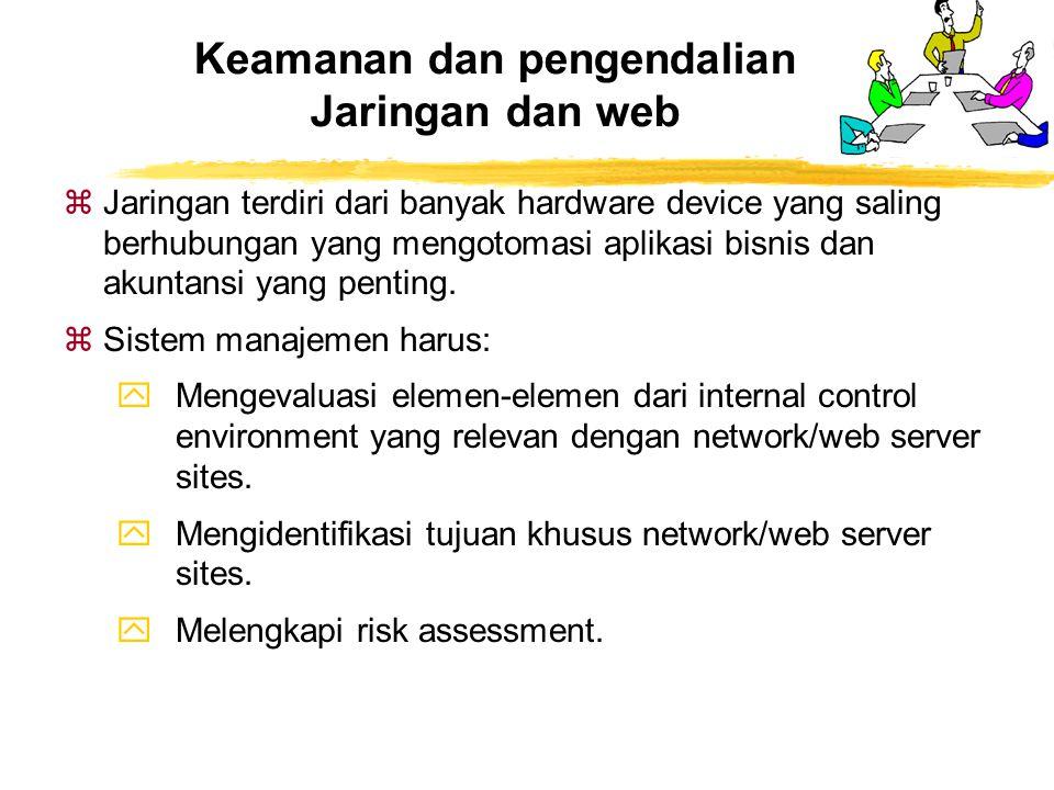 Keamanan dan pengendalian Jaringan dan web