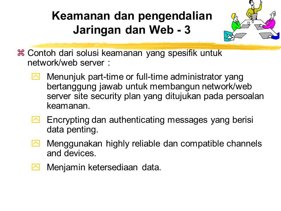Keamanan dan pengendalian Jaringan dan Web - 3