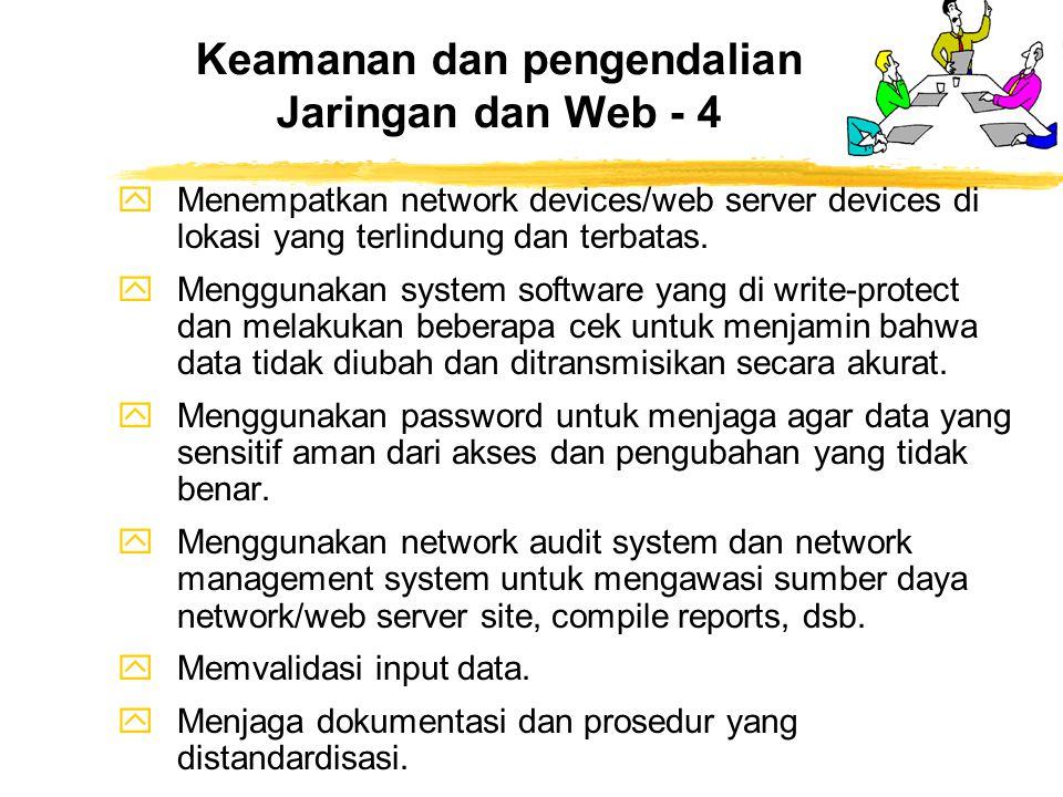 Keamanan dan pengendalian Jaringan dan Web - 4