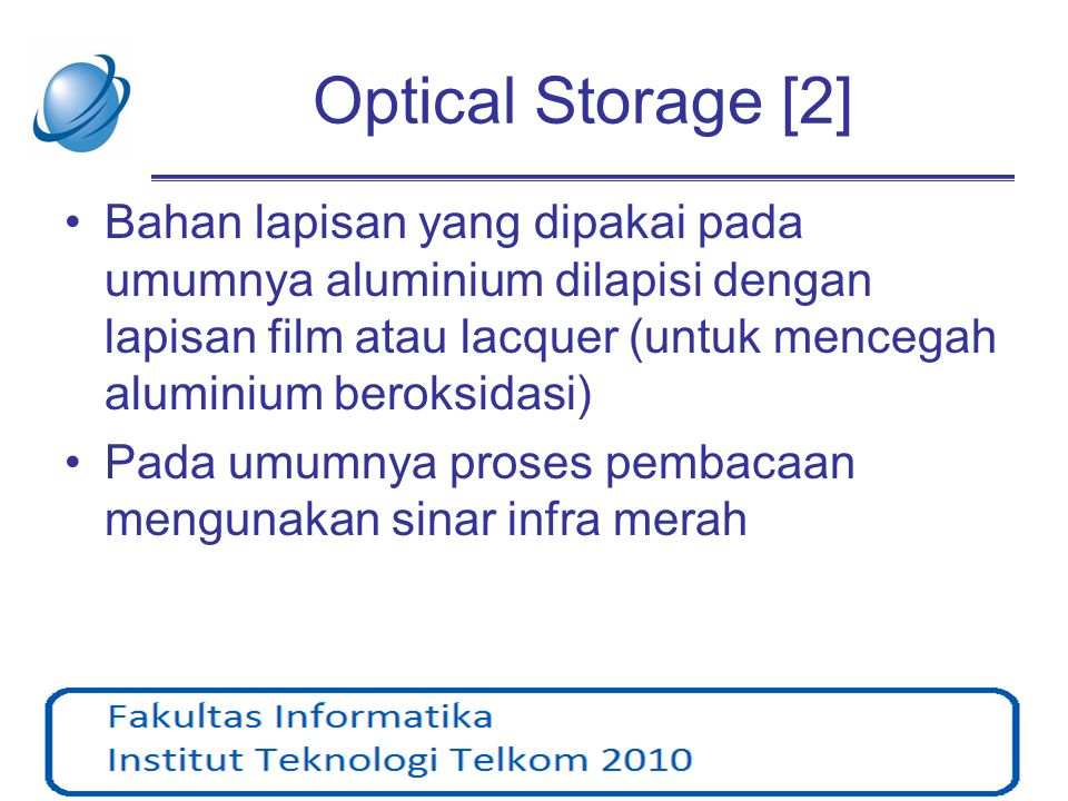 Optical Storage [2]