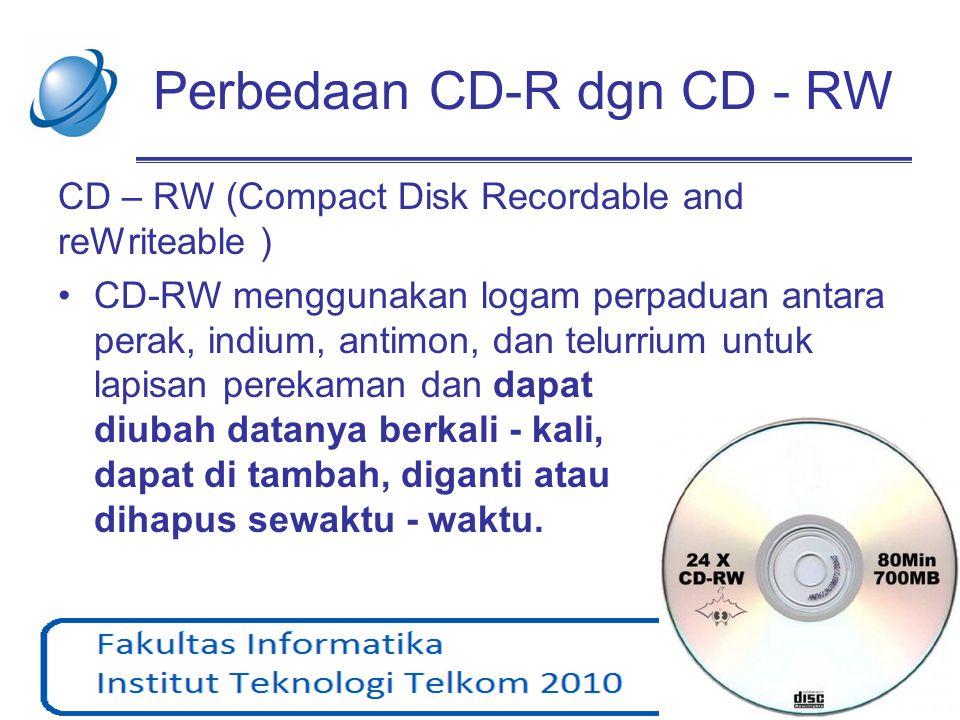 Perbedaan CD-R dgn CD - RW