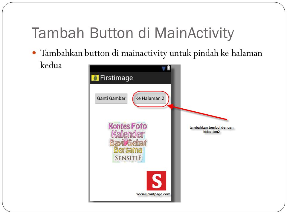 Tambah Button di MainActivity