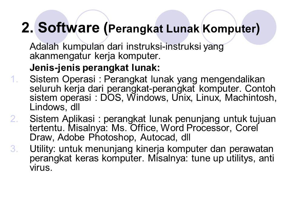 2. Software (Perangkat Lunak Komputer)