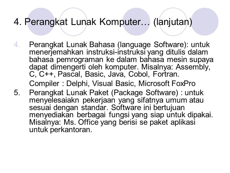 4. Perangkat Lunak Komputer… (lanjutan)