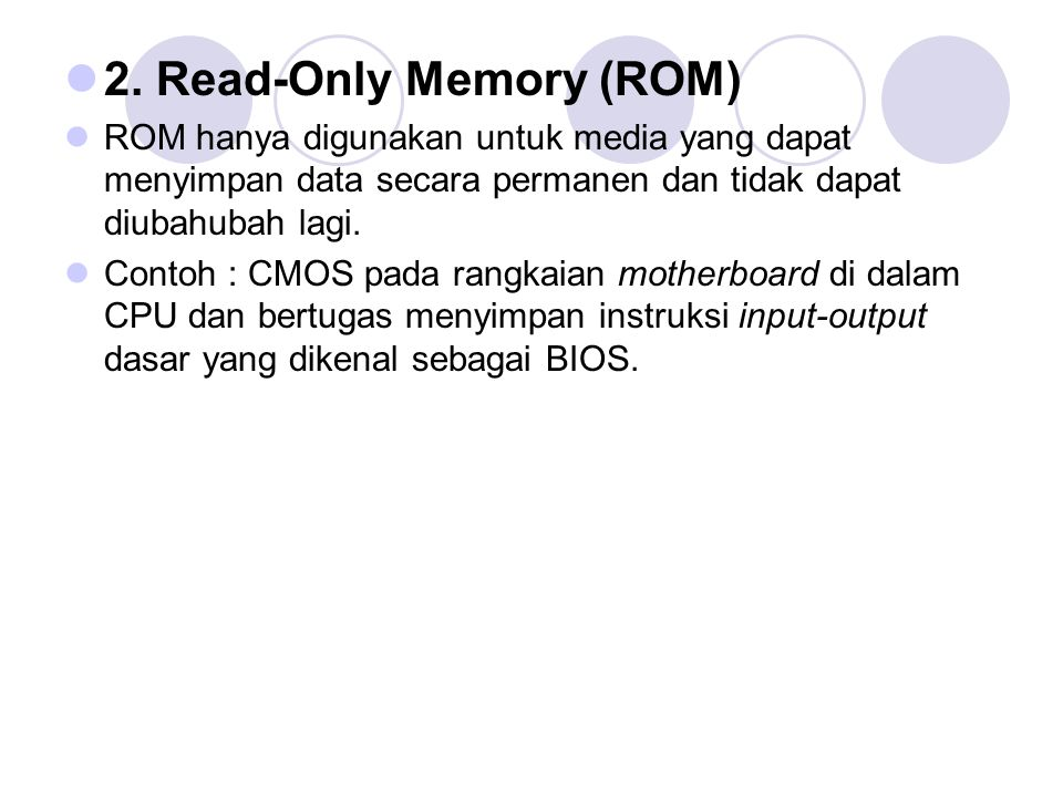 2. Read-Only Memory (ROM)