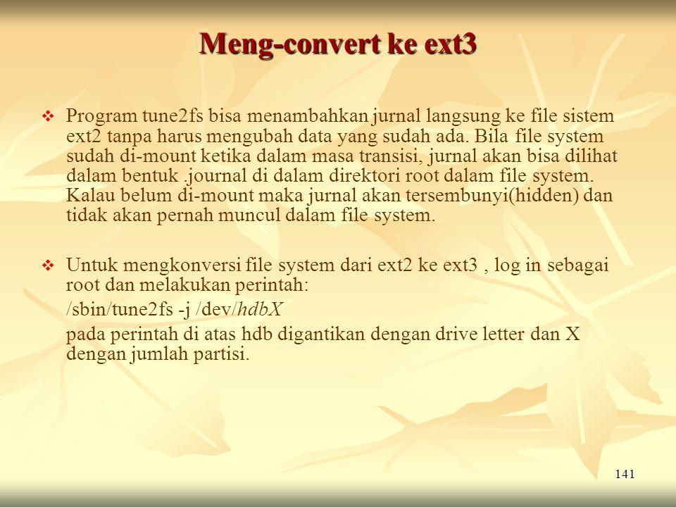 Meng-convert ke ext3