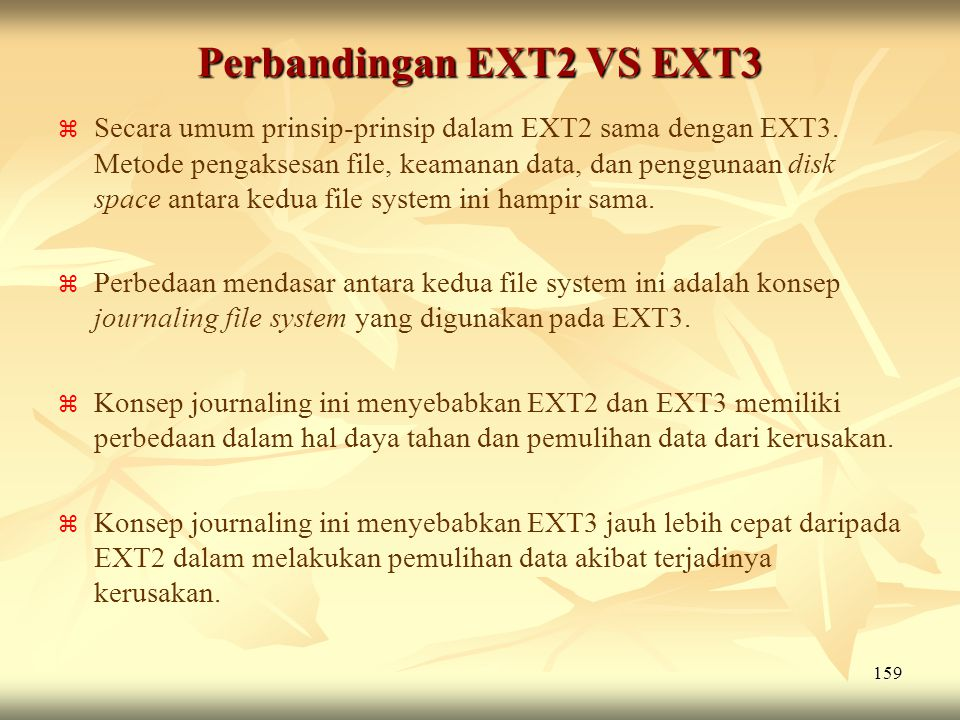 Perbandingan EXT2 VS EXT3