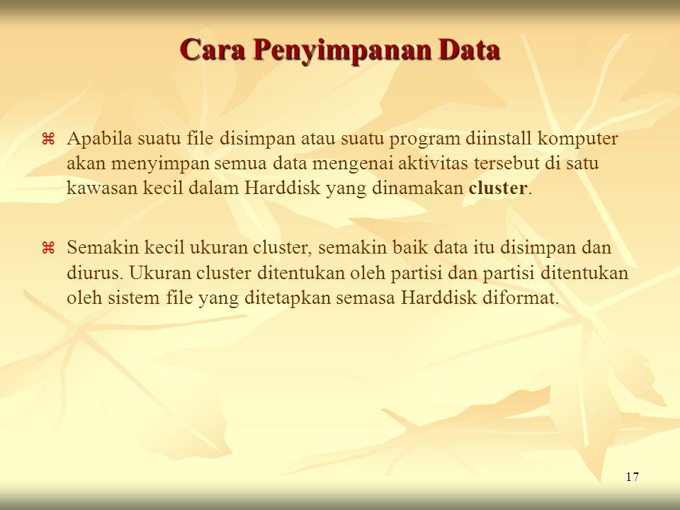 Cara Penyimpanan Data