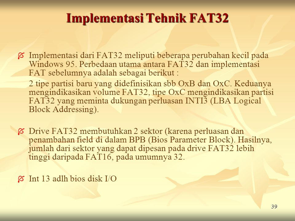 Implementasi Tehnik FAT32