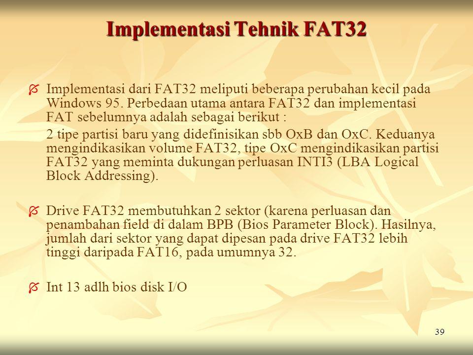 Implementasi Tehnik FAT32