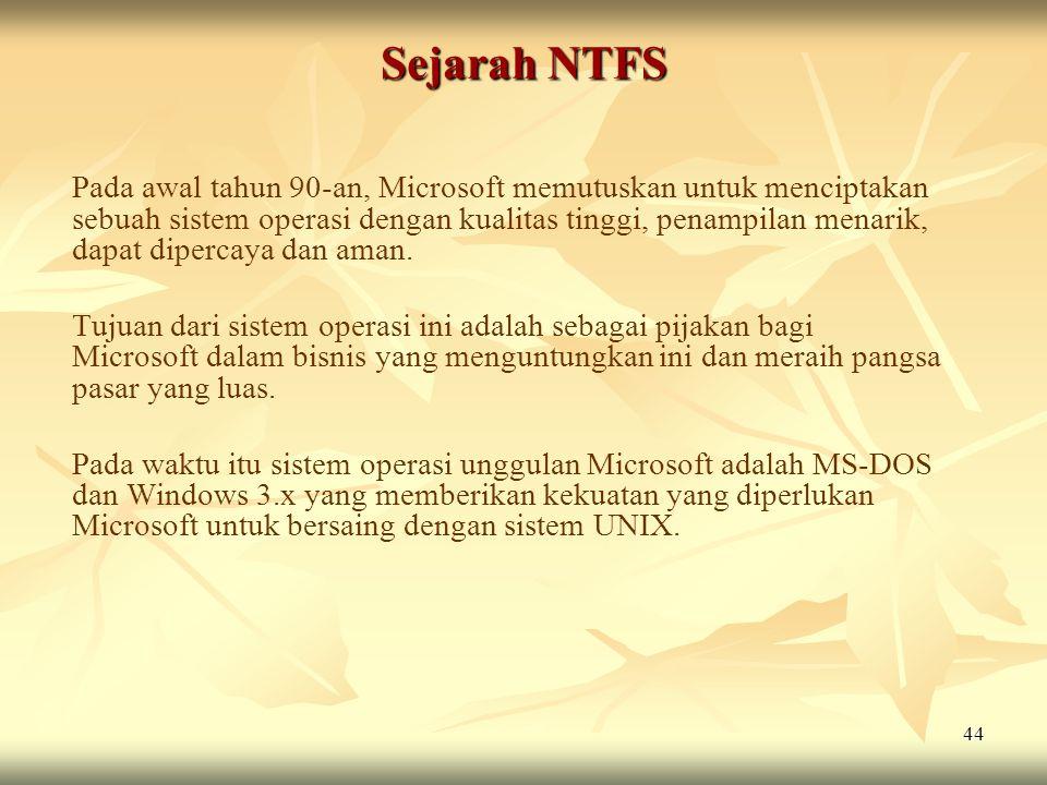 Sejarah NTFS