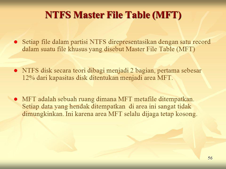 NTFS Master File Table (MFT)