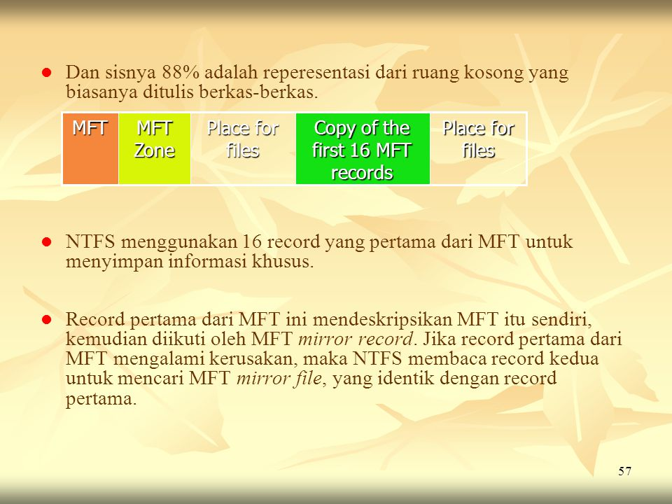 Copy of the first 16 MFT records