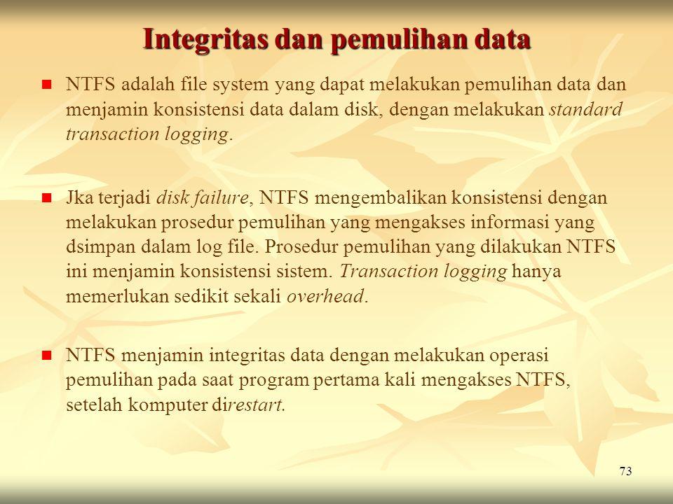 Integritas dan pemulihan data