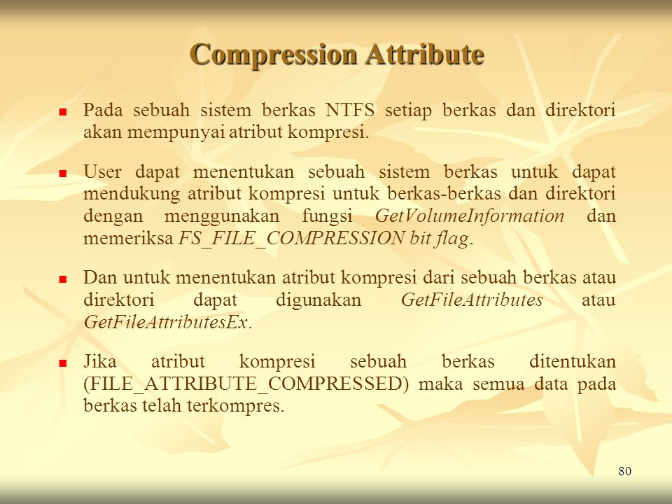 Compression Attribute