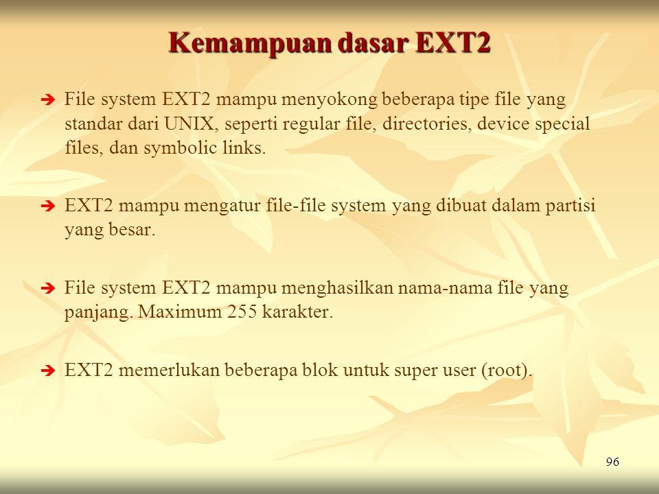 Kemampuan dasar EXT2