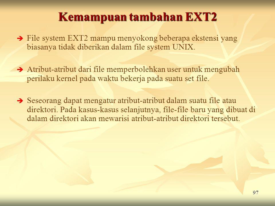 Kemampuan tambahan EXT2