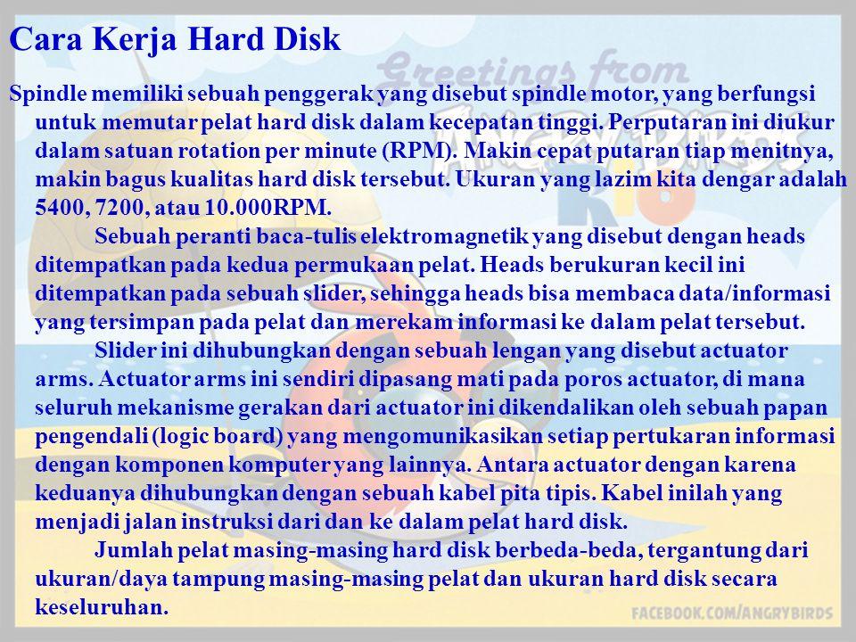 Cara Kerja Hard Disk