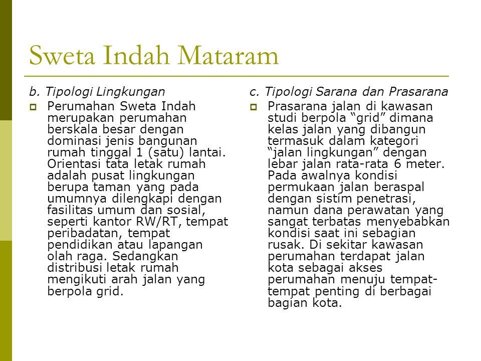 Sweta Indah Mataram b. Tipologi Lingkungan
