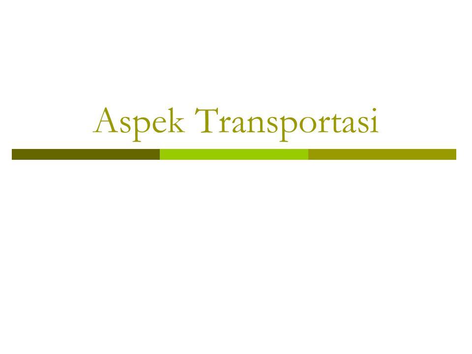 Aspek Transportasi