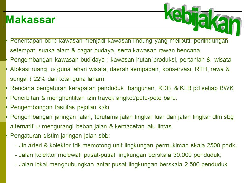 kebijakan Makassar.