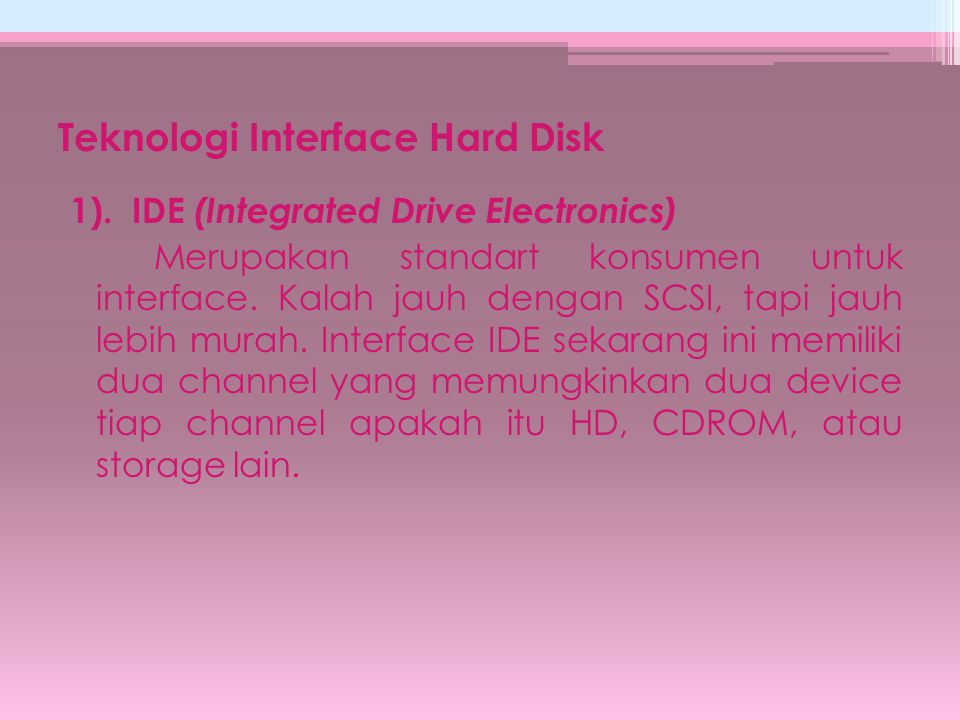Teknologi Interface Hard Disk