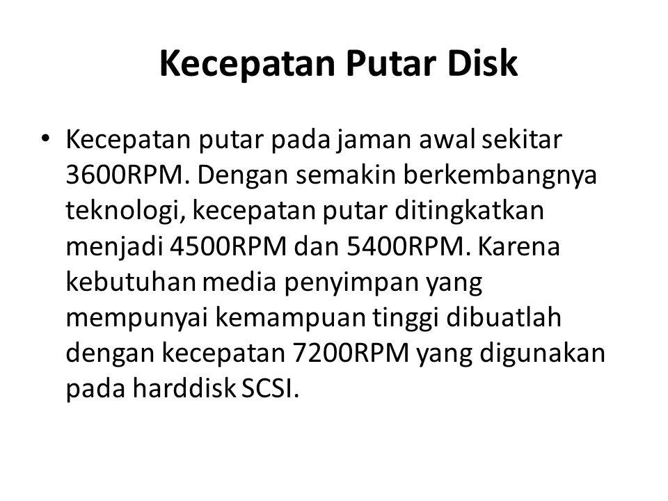 Kecepatan Putar Disk