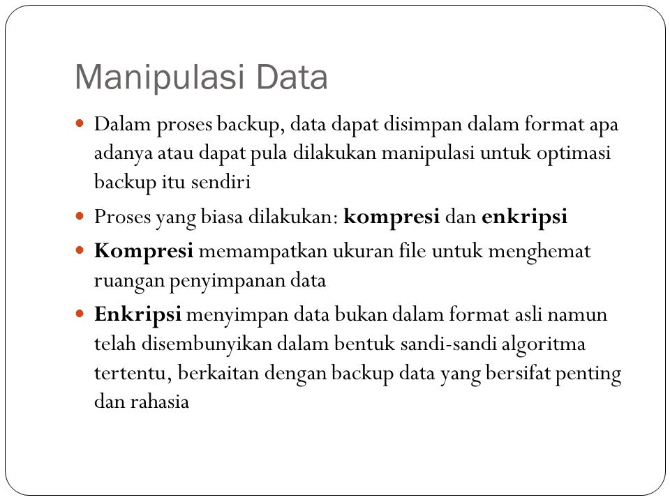 Manipulasi Data
