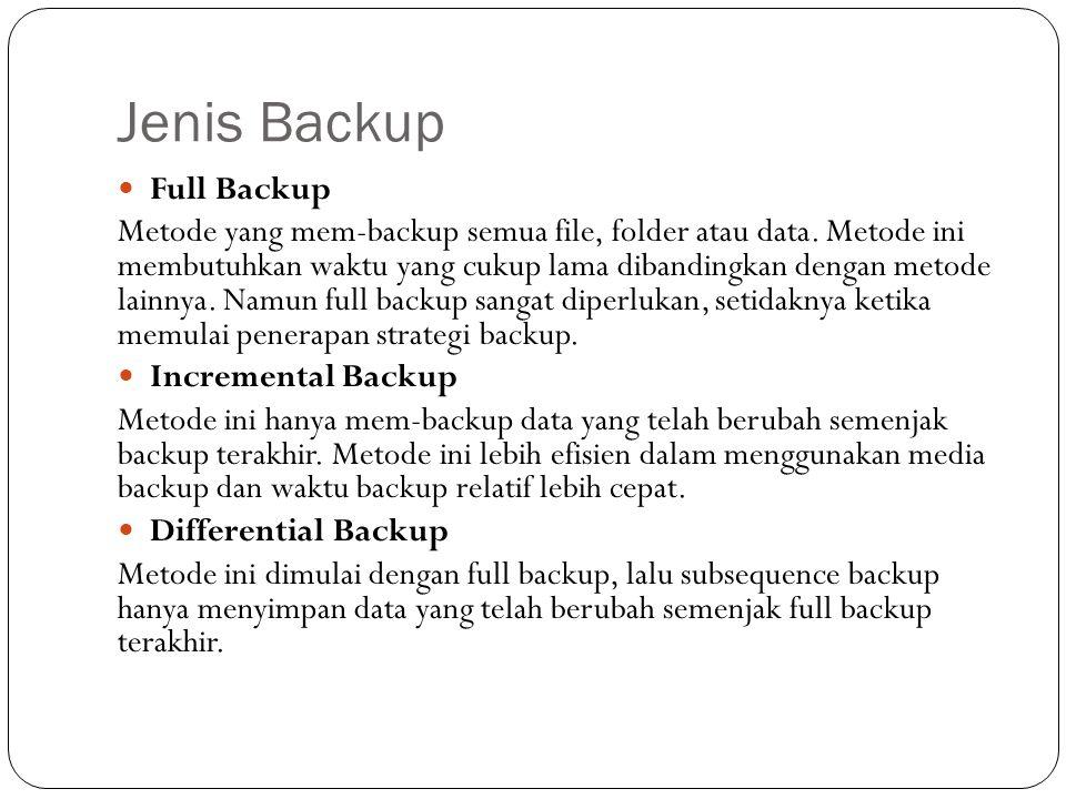 Jenis Backup Full Backup