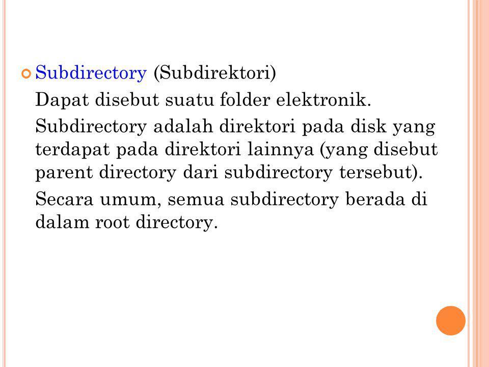 Subdirectory (Subdirektori)