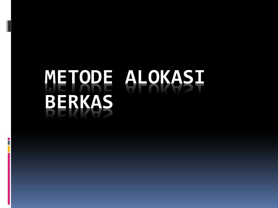 Metode Alokasi Berkas