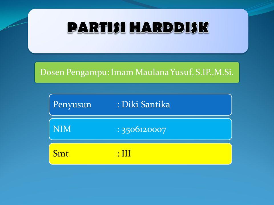 Dosen Pengampu: Imam Maulana Yusuf, S.IP.,M.Si.
