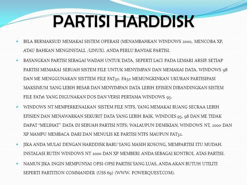 PARTISI HARDDISK