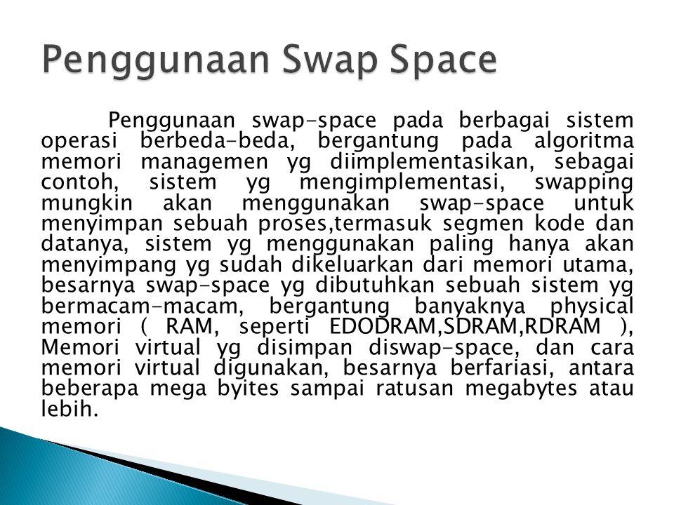 Penggunaan Swap Space