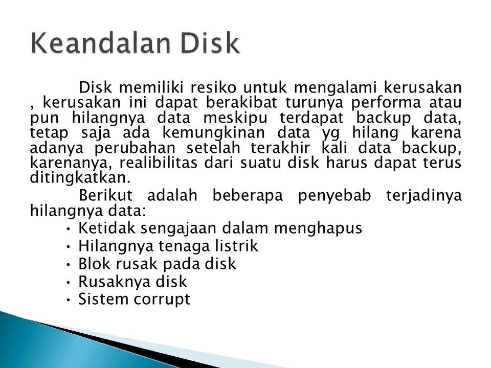 Keandalan Disk