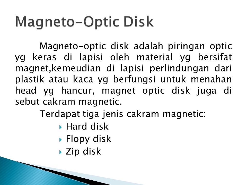 Magneto-Optic Disk