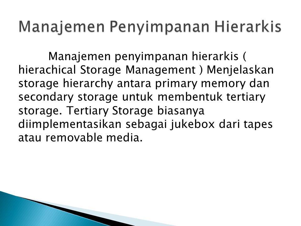 Manajemen Penyimpanan Hierarkis