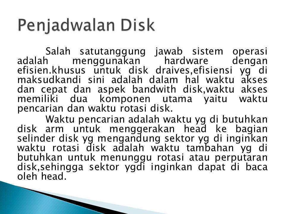 Penjadwalan Disk