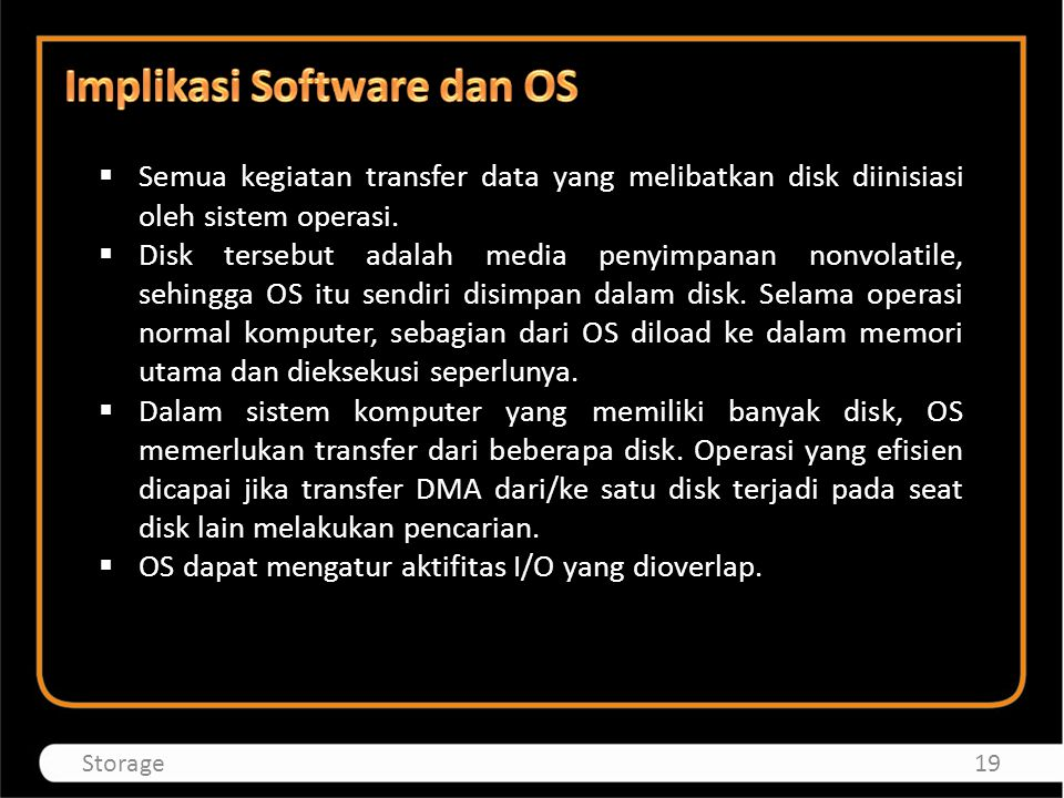 Implikasi Software dan OS