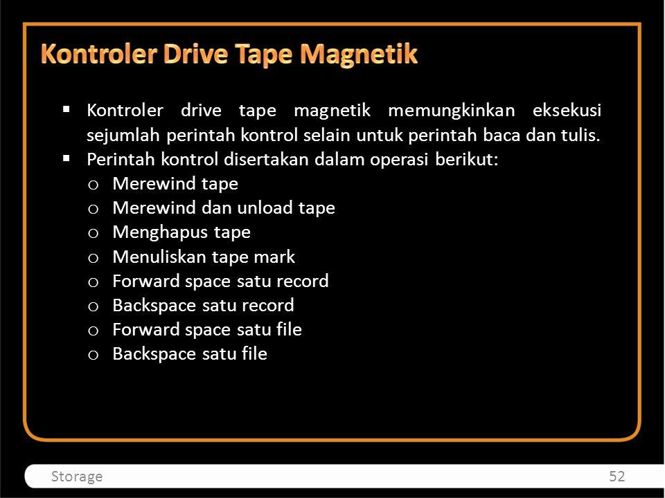 Kontroler Drive Tape Magnetik