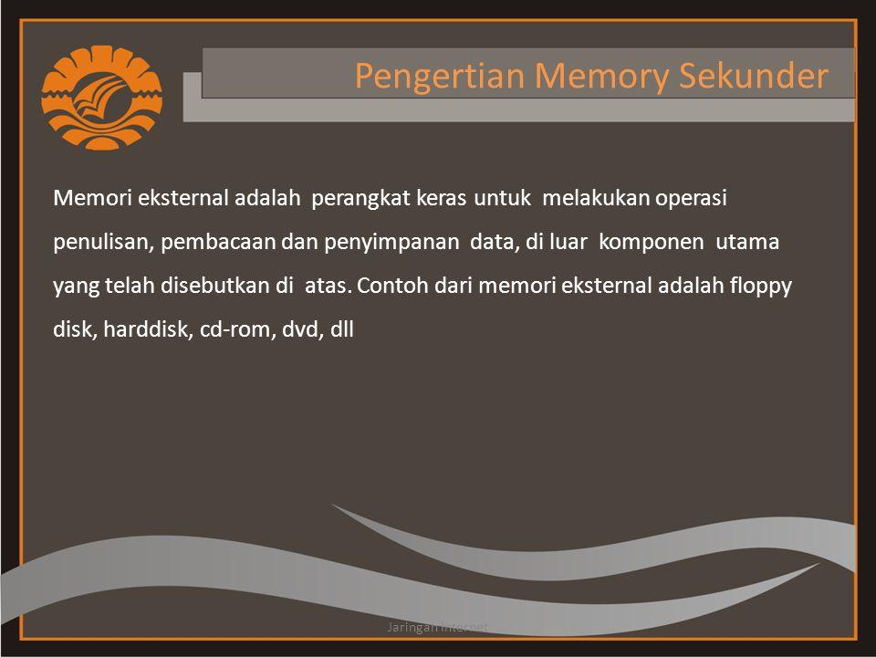 Pengertian Memory Sekunder