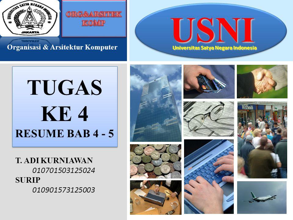TUGAS KE 4 RESUME BAB 4 - 5 USNI Universitas Satya Negara Indonesia