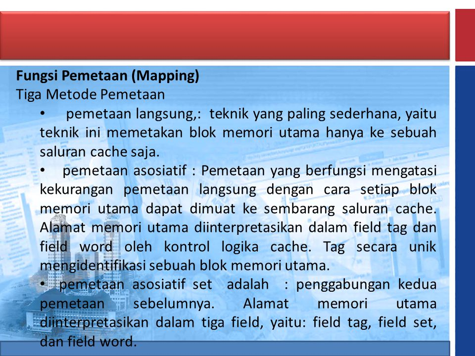 Fungsi Pemetaan (Mapping)