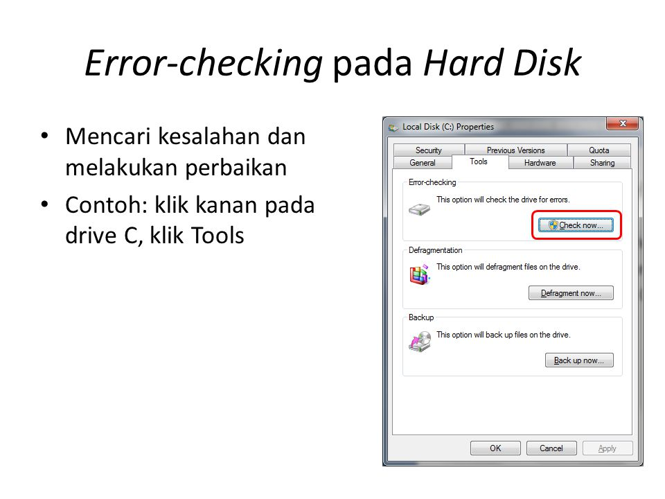 Error-checking pada Hard Disk