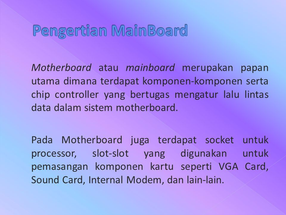 Pengertian MainBoard