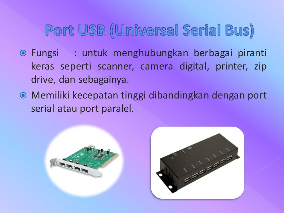 Port USB (Universal Serial Bus)
