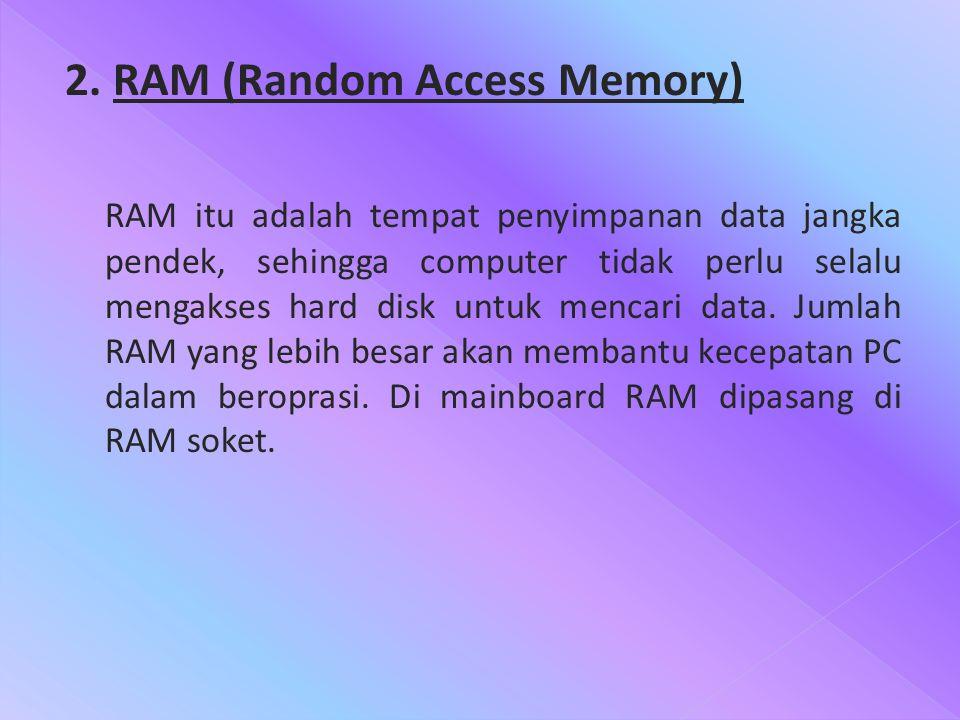 2. RAM (Random Access Memory)